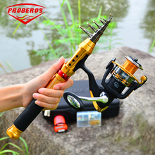 PRO BEORS 1set  Fishing Rod+Fishing Reel Telescopic Rod Fish