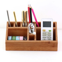 TUTU bamboo Pen Pencil Holder Container Stationery Case Office Desktop Organizer with Hollow Design for Office Supplies H0192