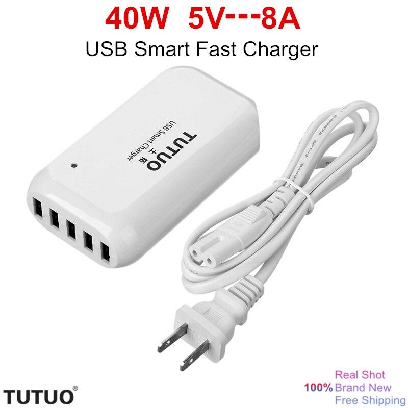 TUTUO 2016 Новые 5 Портовый Настольный USB Зарядное Устройство для Путешествий Портативный смарт Быстрое Зарядное Устройство Dock USB для Смартфонов…