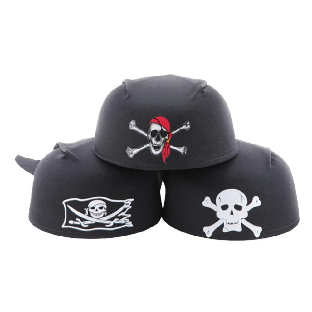 New Halloween Dress Magic Pirate Hat Party Supplies Pirate Captain Hat Cospaly Toy Round Childrens Day Cosplay Kids Gift