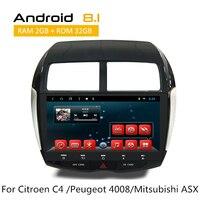 Автомобильный стерео gps навигатор для Citroen C4 Aircross peugeot 4008 2012 Mitsubishi RVR 2011/ASX 2010/Outlander Sport radio no DVD