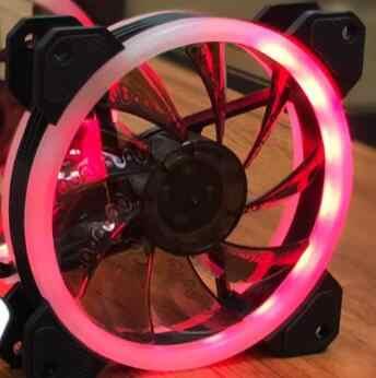Aigo RGB مروحة 120 مللي متر برودة مروحة كمبيوتر LED حلقة مزدوجة متعدد الألوان المشجعين AR الكمبيوتر التحكم عن بعد DR12 LED مروحة هادئة