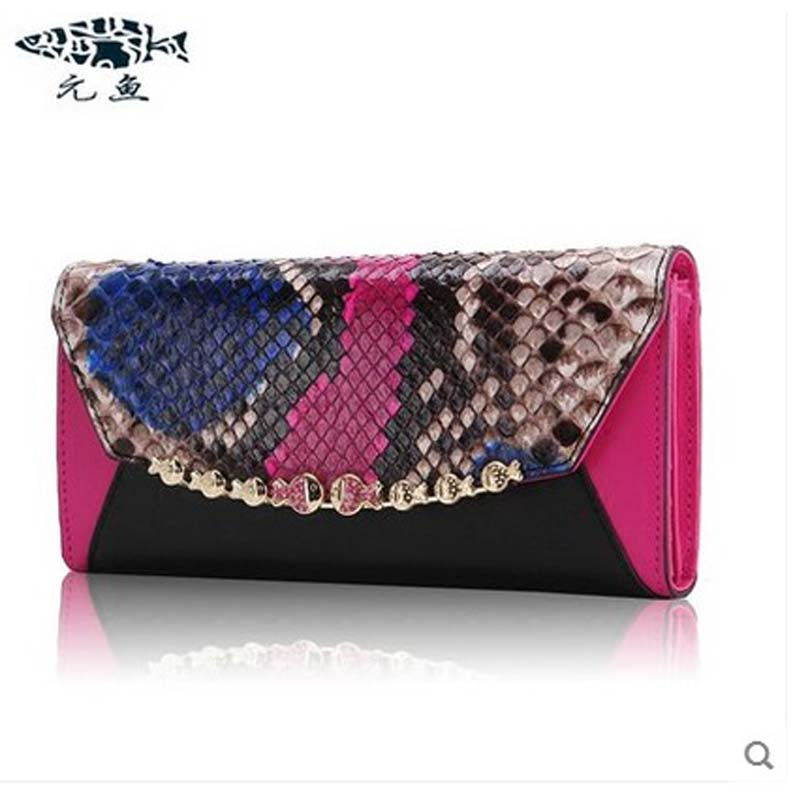 yuanyu 2018 new hot free shipping python leather bag female long snakeskin women clutches small bag fresh genuine leather bag yuanyu 2018 new hot free shipping real python leather women clutch women hand caught bag women bag long snake women day clutches