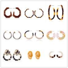 Lalynnly New Design Leopard Hoop Earrings Fashion Boho Elegant Dangle Statement Earrings For Women Party Gift