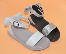 Buy girls sandals 2019 new genuine leather summer walker shoes beige strap sandals gladiators antislip lightsole kids toddler 26-30 directly from merchant!