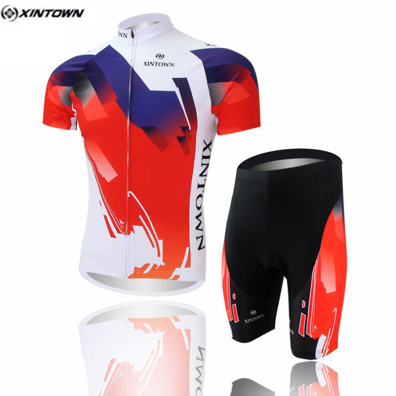 Red Cycling Sets Bets Cycling jersey Sets Cycling clothing short sleeve bike bicike jersey sycle jersey + pants sets