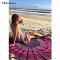 2016 Nuevo Verano de Algodón Poliéster Impresa Toallas De Playa Ronda Círculo Servilleta Plage de Impresión Reactiva Toalla de Playa