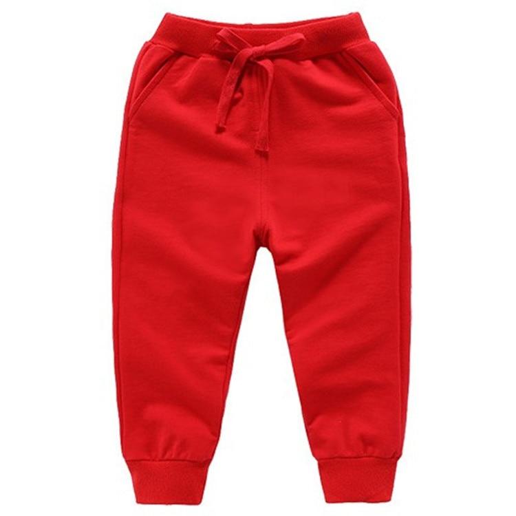 Retail New Warm Velvet Pants For 2-10 Yeas Solid Boys Girls Casual Sport Pants Jogging Enfant Garcon Kids Children Trousers 12