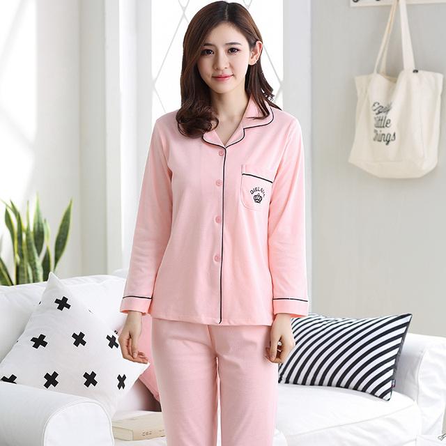 Nuevo Anuncio WAVMIT 2017 Patrón de Invierno Pijamas Mujeres Del Cartón Lindo Pijama Conjunto Pijama de Algodón Pijamas Mujer ropa de Dormir Al Por Mayor