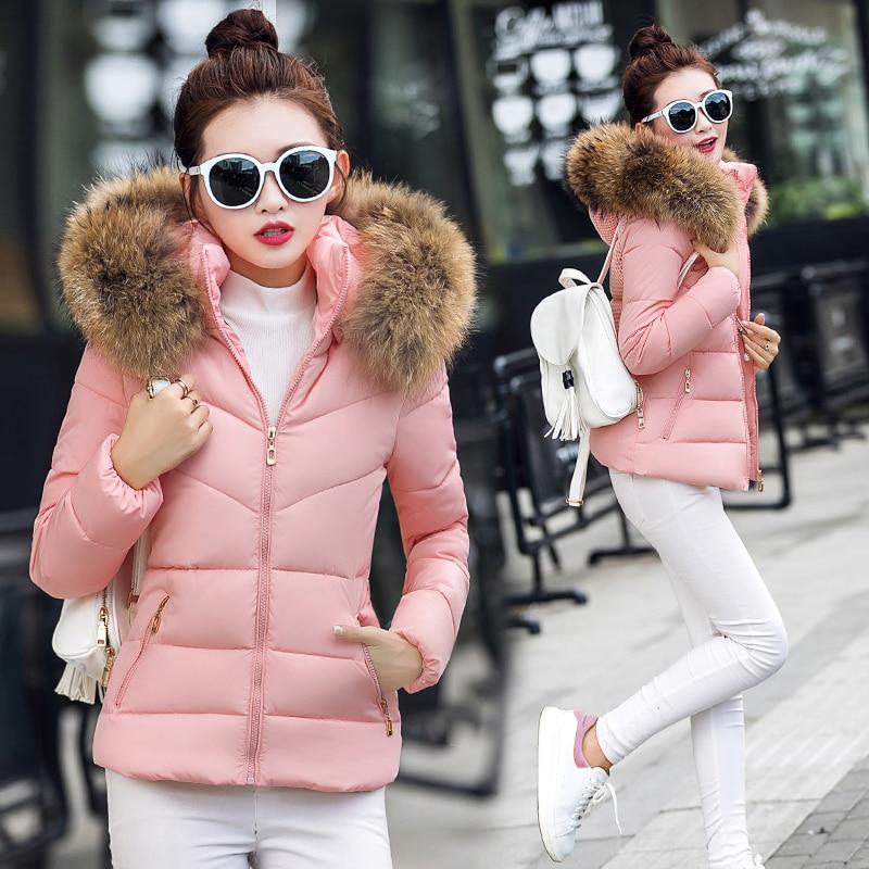 2016 yeni Kış Sahte kürk yaka Parka aşağı pamuk Ceket Kadın kalın Kar Giyim Ceket Lady Giyim Kadın Ceketler Parkas