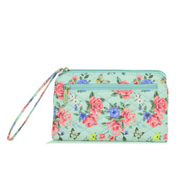 myvision High Capacity Women Wallets Long Dull Cotton Blue
