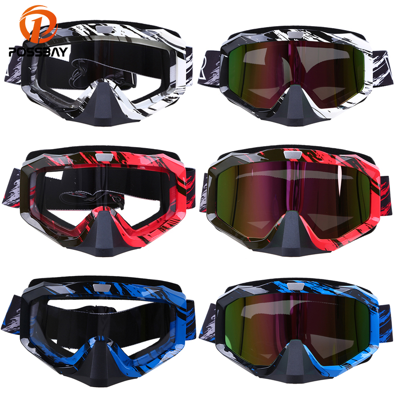 POSSBAY Outdoor Cycling Glasses Off Road Oculos Motorcycle Motocross Glasses Skate Ski Goggles for Cafe Racer Helmet EyewearPOSSBAY Outdoor Cycling Glasses Off Road Oculos Motorcycle Motocross Glasses Skate Ski Goggles for Cafe Racer Helmet Eyewear