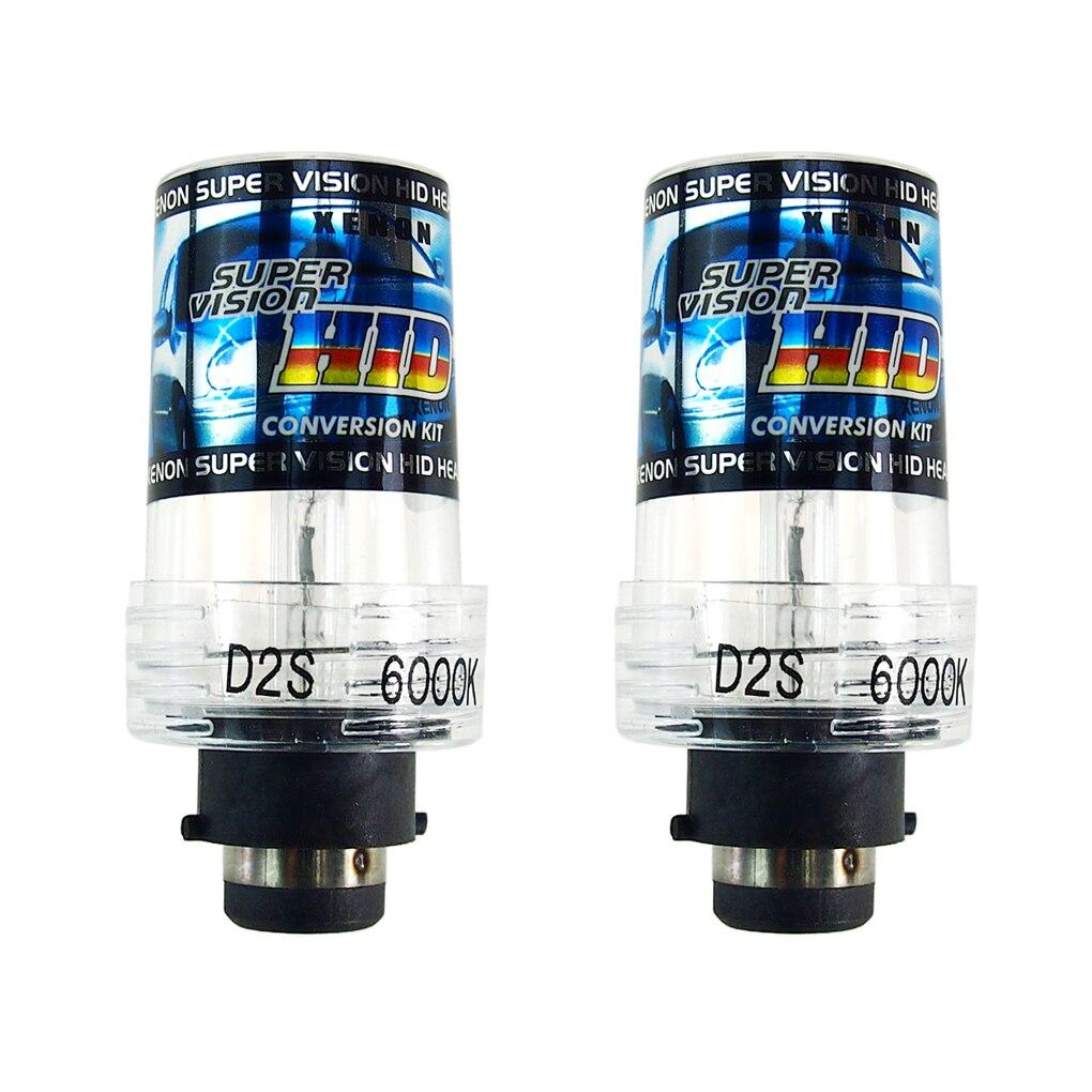2 PCS 12V 35W D2S Bulb 4300 6000 8000 10000K D2S HID Replacement Bulb for Car Headlight
