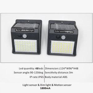 Image 5 - 146 נוריות חיצוני led שמש גן אור עמיד למים IP65 תחושה אור אינפרא אדום חיישני מנורת חיצוני גדר גינה מסלול קיר אור