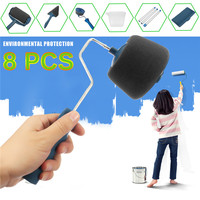 6 PCS Set DIY Paint Roller Kit Room Wall Painting Runner Pintar Facil Decoration Household Painting