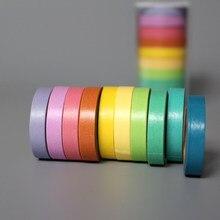 10 kolorów może napisać cukierki 5M rozdrobnione Washi rolka do czyszczenia ubrań maskująca dekoracyjna taśma klejąca etykiety Craft dekoracyjne diy Scrapbooking