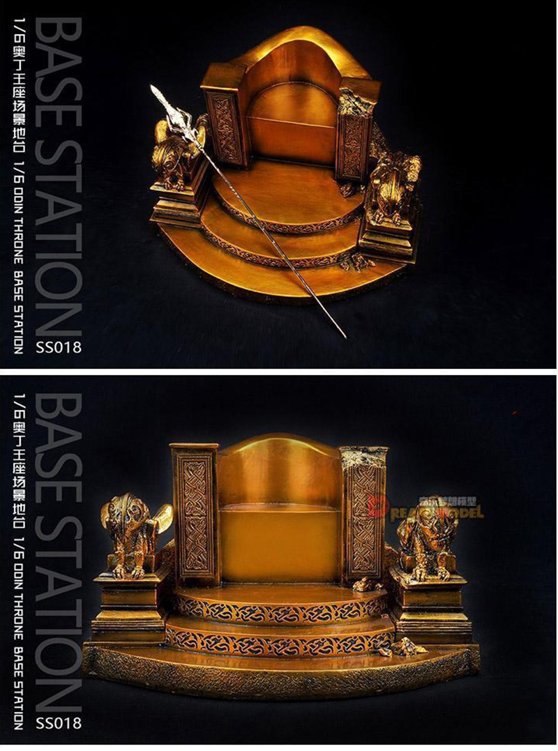 1/6 Scale Base Station Gold Throne SS018 Display Scene Accessories for 12