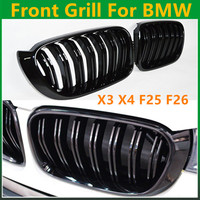 X3 X4 F25 F26 внедорожник передний гриль двойной планка Замена решетка для bmw серии X 2013 + глянцевая/матовая черный