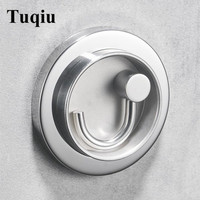 Chrome glue or drill real 304 SS material clothes rack cloth hook foldable Robe Hook for Bathroom Hanger Accessory Hanger