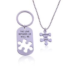 THE LOVE BETWEEN US WILL BE FOREVER AND EVER Lettering Alloy Pendant Necklaces Special Gift Lovers Jewelry the light between us