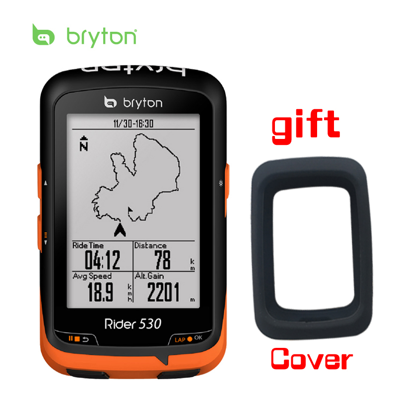 Bryton Rider 530 GPS Bicycle Bike Cycling Computer & Extension Mount with ANT+ Speed Cadence Dual Sensor Heart Rate Monitor xing speed cadence sensor