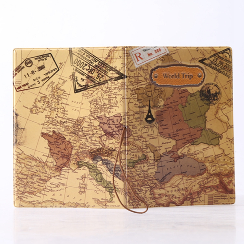 Hoyobish 2018 3d travel wallet passport holder document organizer hoyobish 2018 3d travel wallet passport holder document organizer vintage world map passport cover id card holder card bag oh102 in card id holders from gumiabroncs Images