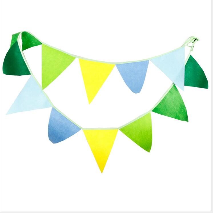 1pc 32m 12 flags banner pennant spring style cloth party decoration pennants bunting banner - Decorative Flags