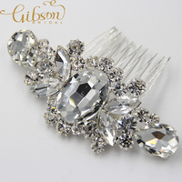 Free Shipping Vintage Style Crystal Beaded Bridal Hair Comb Wedding Headpiece Hair Accessories