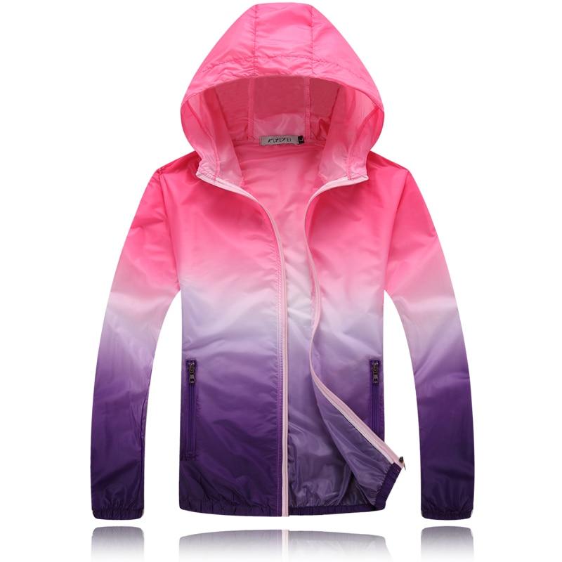 Zlatíčko Slunce Ochranné oděvy Jaro a léto Venku Dlouhý rukáv UV Tenký kabát Unisex Ženy Muži Dívky
