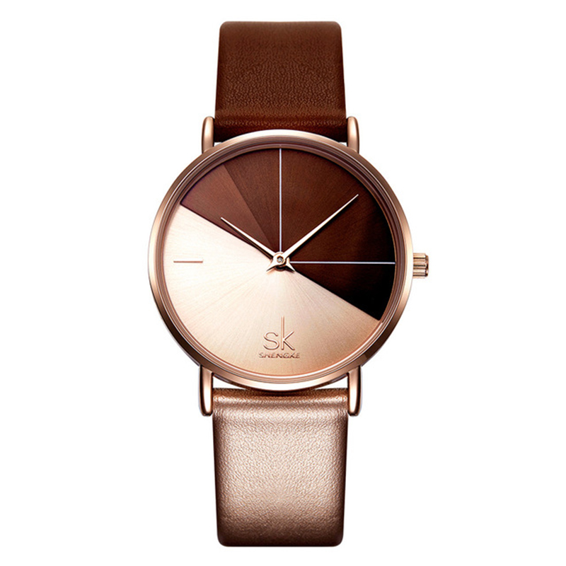 SK Watches Women Hot Sales Japan Movement Girls' Leather Watches Shengke Brand Wristwatches Relojes Female 3atm Waterproof Watch