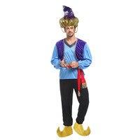 Anime Aladdin lamp Cosplay Men Halloween Egypt Adam prince Costume Carnival Purim Masquerade Stage performance Arab dance dress