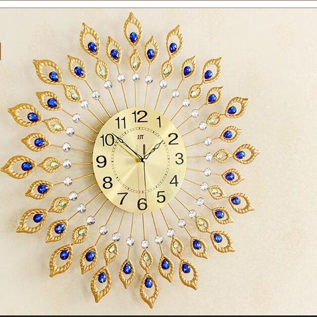 Geekcook 67X67CM Oversized Size Creative Iron Wall Clock European ...