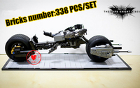 7115 Super Heroes The Dark Knight Batman Batcycle Batmobile 338PCS Bricks Batpod Building Blocks Toys