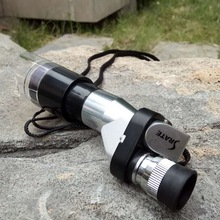 NEW ARRIVAL Mini Pocket 8X20 Telescope Monocular Metal Silver Monocular with Gleam Night Vision Scope حمل و نقل رایگان