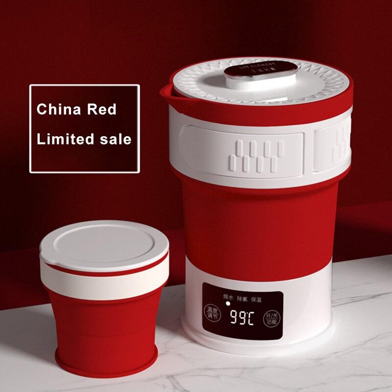 Elektrische Wasserkocher Tragbare Silikon Folding Wasserkocher Versteckte Griff Mini Isolierung Wasserkocher 110 V 240 V Einstellbare Temperatur-in Elektroschloss aus Haushaltsgeräte bei  Gruppe 1