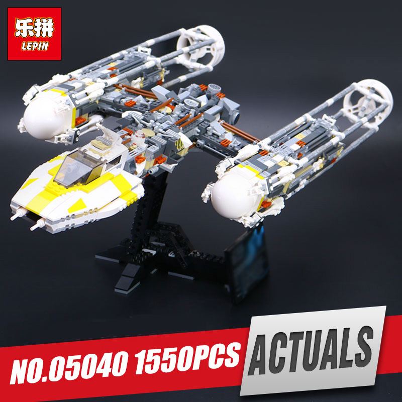 LEPIN 05040 Star Series Y toy wing set Attack fighter Educational Building Block Assembled Brick Compatible with War Toys 10134 lepin 05040 star wars y wing attack starfighter model building kits blocks brick toys compatiable with lego kid gift set