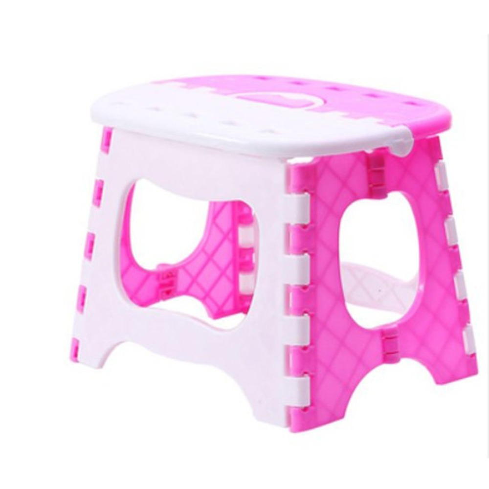 Plastic Folding Stool with Handle Portable Lightweight Outdoor Indoor Folding Stool for Adults Kids Great for Kitchen slydll portable stainless steel folding pet comb plastic handle