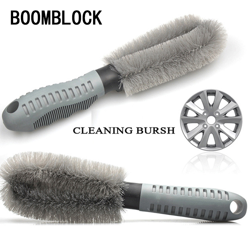 BOOMBLOCK Car Styling Hub Cleaning Brush Tools For Mercedes W204 W210 AMG Benz Bmw E36 E90 E60 Fiat 500 Volvo S80 Accessories yandex w205 amg style carbon fiber rear spoiler for benz w205 c200 c250 c300 c350 4door 2015 2016 2017