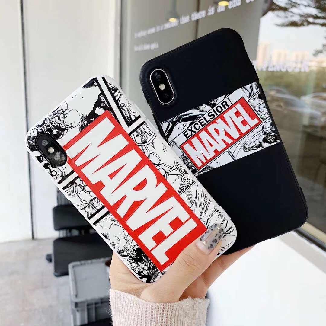Cool Male Marvel Avengers Tiger candy Phone Case For iPhone 8 7 6 6s Plus X XR Xs Max Matte Silicone Superman Batman Cases Coque