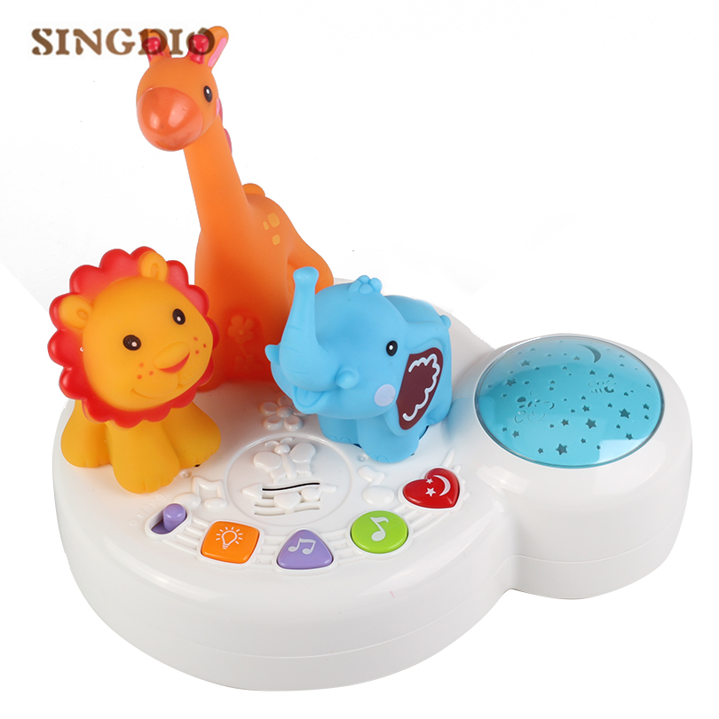 Baby Sleep Music Toys Glowing Toy 6 Colors Music Keyboard Instrument Piano Musical Baby Playing Musical