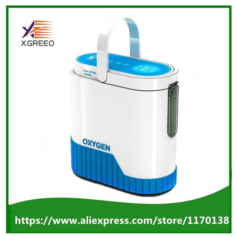 COXTOD Date 1L avec 92% Pureté Concentrateur D'oxygène Portable avec batterie inverseur de voiture chariot et sac de transport d'oxygène bar