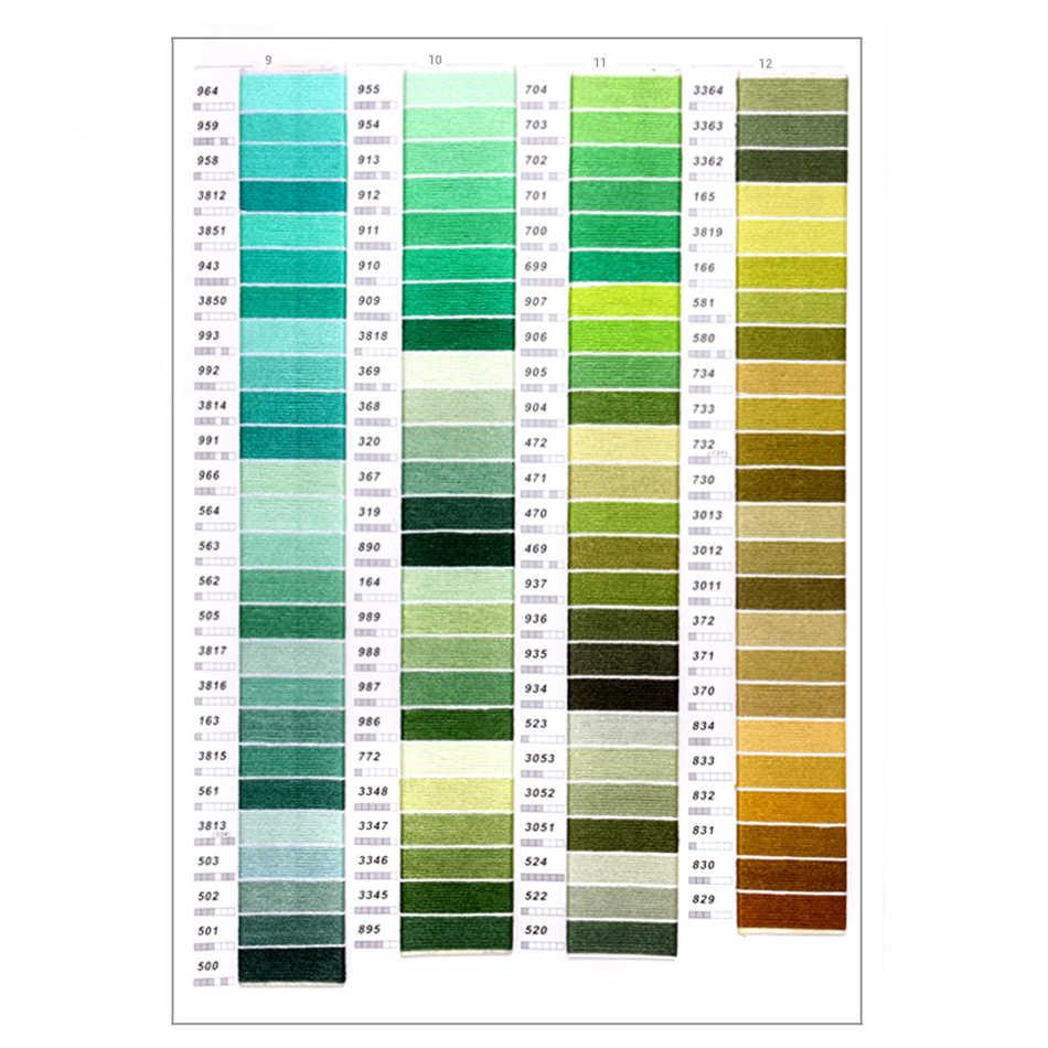 يمكنك اختيار أي الألوان و كمية DMC التطريز الخيط مماثلة عبر الابره خيط قطني