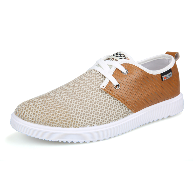 2018 Big Promotion Men Business Leather Casual Shoes Man Pu+air Mesh Leisure Loafers Derby Brogue Shoes Breathable Soft Bottom big promotion 100