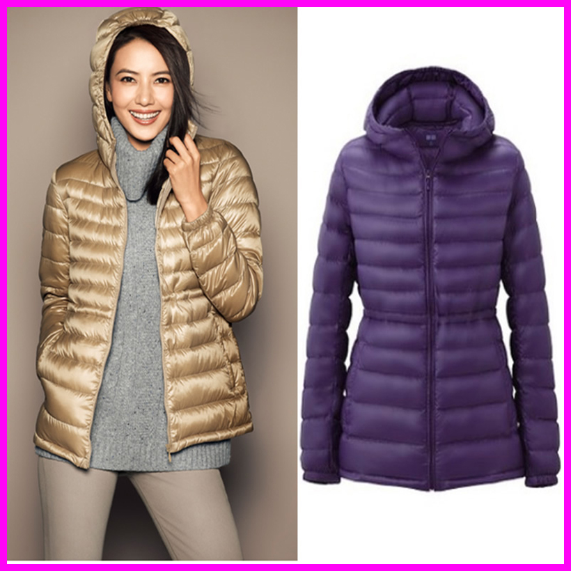 39a2439d4 US $29.74 9% OFF|Women 90% White Duck Down Jacket Women's Hooded Ultra  Light Down Jackets Warm Long Winter Coat Parkas-in Parkas from Women's  Clothing ...