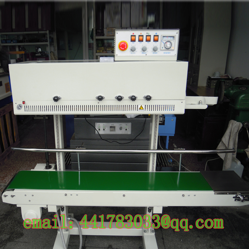 FRM-1120L Large Vertical Continuous Bag Sealing Machine Rice Bag Sealing Machine Pet Food Sealer Vegetable Sealing Machine