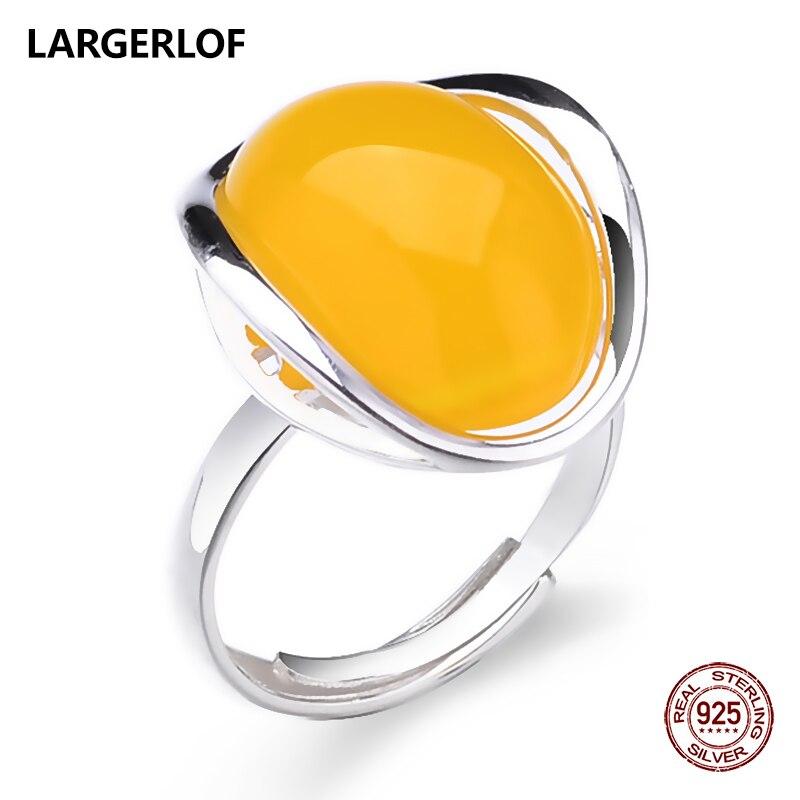 LARGERLOF 925 Sterling Silver Ring Natur