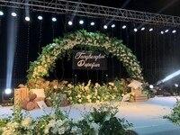 4M/5M Width Bridal Arch Frame Background Wedding Metal Arch Round Backdrop Stand Flower Door Frame Wedding Decoration Props