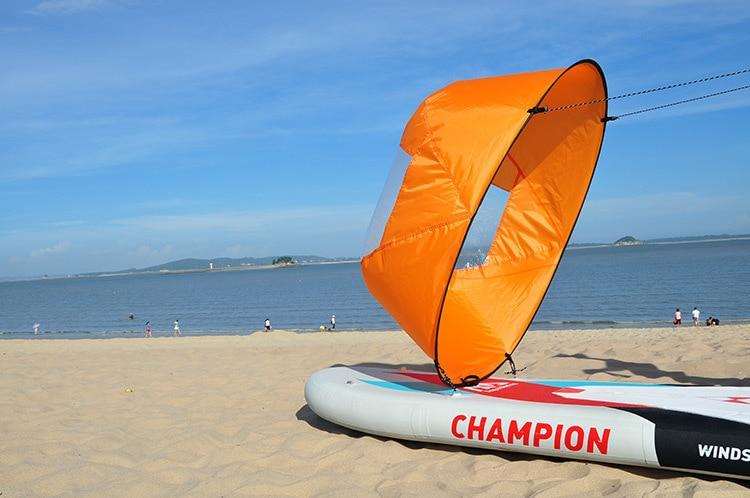 где купить  kayak Canoe sailing canoe sails SUP paddle board ultra - light portable folding sails for sailboat  по лучшей цене
