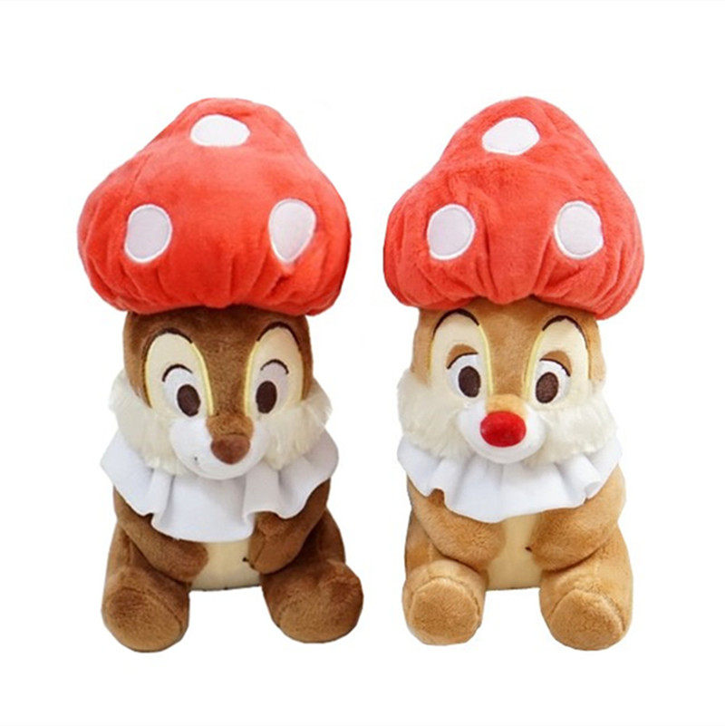 Cute Mushroom Chip and Dale Chipmunks Plush Toy Stuffed Animals 23cm Set of  2 Baby Kids 57d08652846c