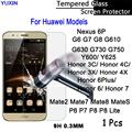 9H Premium Tempered Glass Guard Film for Huawei Nexus 6P G6 7 8 G610 630 730 750 Y600 625 Honor 3c x 4x c P6 7 8Lite MateS 2 7 8